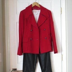 MICHAEL KORS - Military style Red Pea Coat